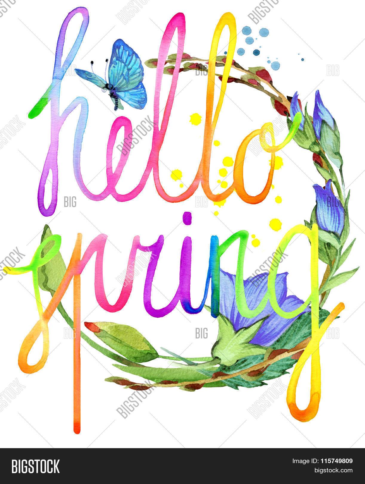 Hello Spring. Image & Photo (Free Trial) | Bigstock