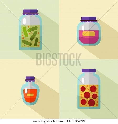 Home canned products icons