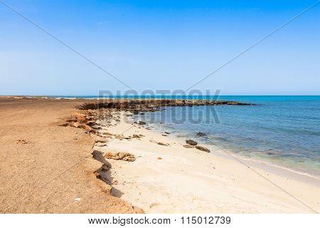 Murdeira bay beach in Sal Cape Verde - Cabo Verde poster