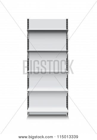 realistic shelf isolated on white eps 10