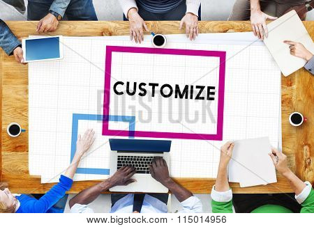 Brainstorming Teamwork Thinking Office Customize Concept