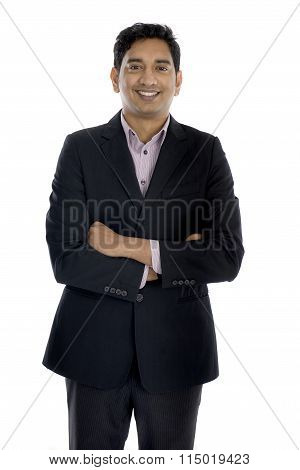 Indian Business Male In A Coat