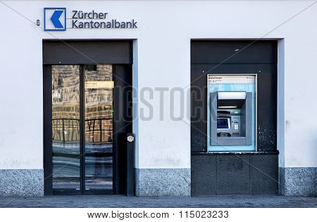Entrance Of The Zurich Cantonal Bank Office
