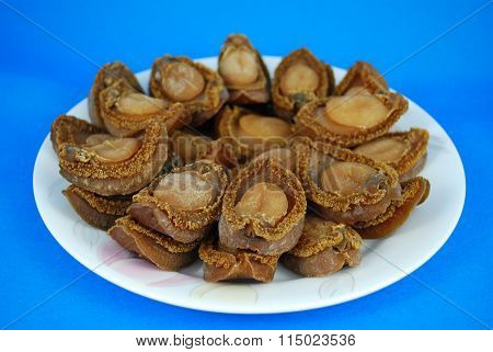 Dry Abalones. Chinese Cuisine Abalone