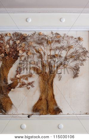 Tree Made Hands On The Wall Painting