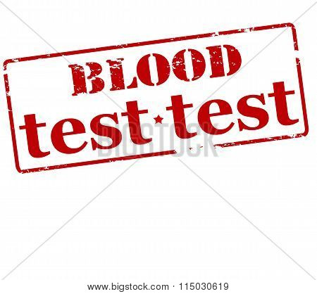Rubber stamp with text blood test inside vector illustration