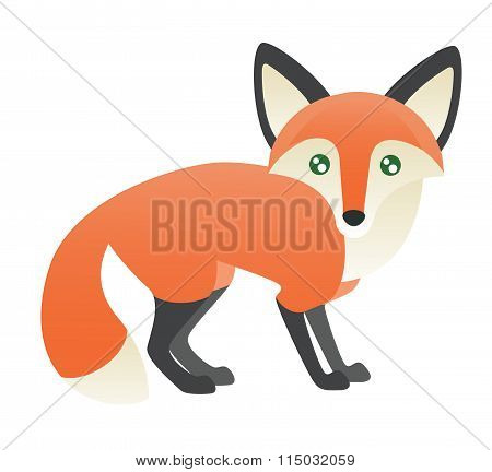 Abstract Fox Standing