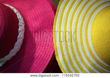Close-up Of Female Hats