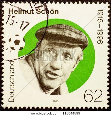 Portrait Of Helmut Schoen, German Football Player And Coach