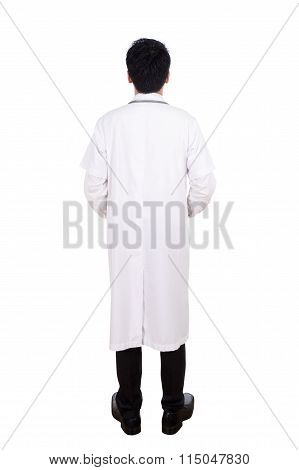 Rear View Of Medical Doctor