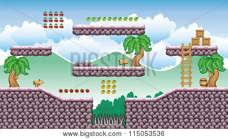 Platform Game Tileset 19.eps