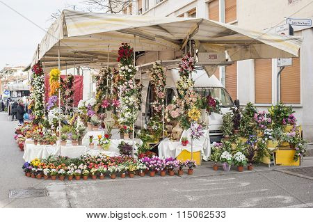Local market outdoor in Nord Est of Italy