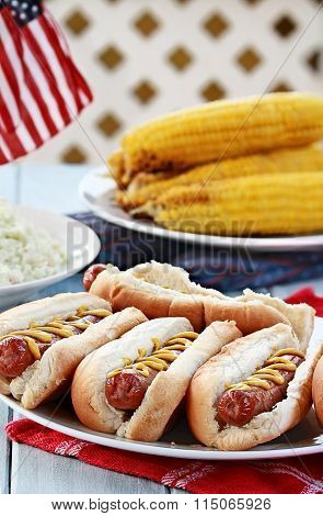Hotdogs And Side Dishes