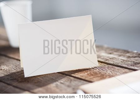 Blank invitation greetings card