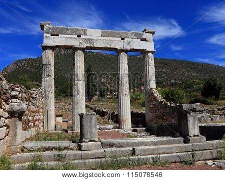 ruins in Ancient city of Messina, Messinia, Peloponnes, Greece