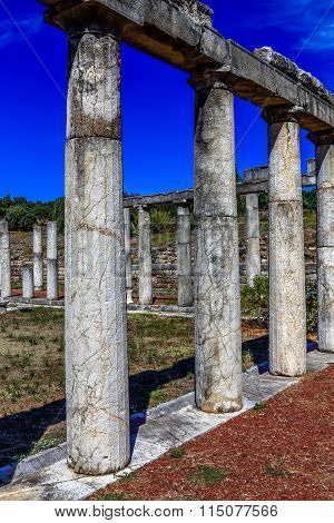 MESSENIA, GREECE - SEMPTEMBER 26: ruins in ancient city of Messini, Messinia, Greece, hdr photo