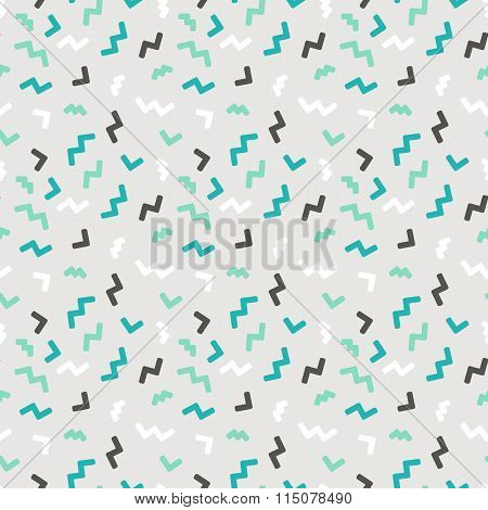 Vector Abstract Seamless Patern In Trendy Pop Art Linear Style