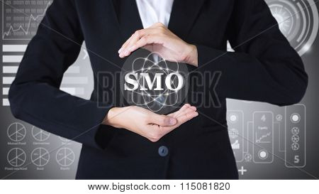 Business women holding posts in SMO.