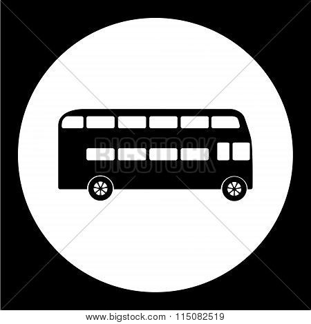 Simple Double Decker Bus Public Transpor Icon Eps10