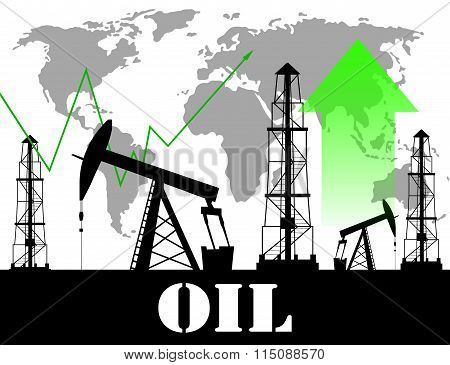 Oil price  graph illustration