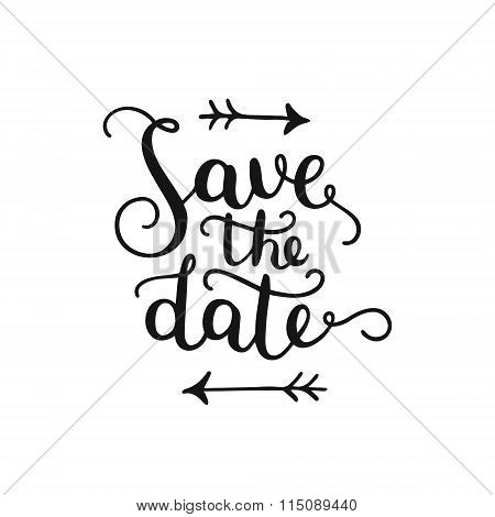 Save the date, hand drawn lettering