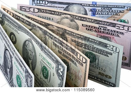 Row Of Dollar Banknotes