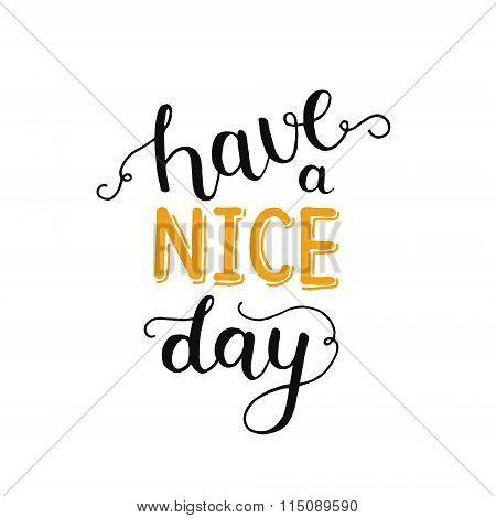 Hane a nice day, inspirational card