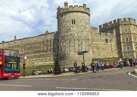 Lower Ward In Medieval Windsor Castle