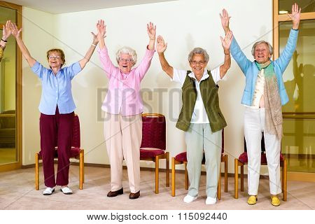 Happy Enthusiastic Group Of Senior Women