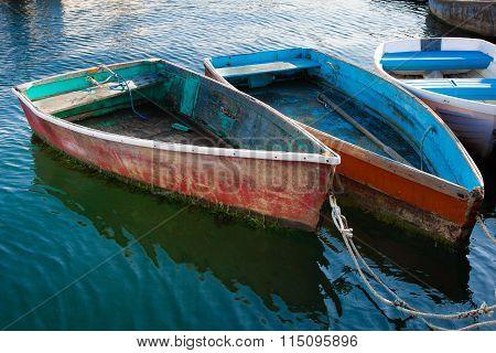 Weathered Old Rowboats