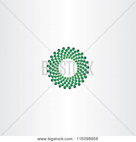 Green Circle Particle Fusion Icon Logo