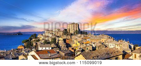 Beautiful medieval village (borgo) Capodimonte  - Italy (Viterbo