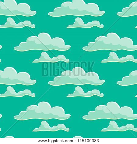 Seamless Pattern With Cloud