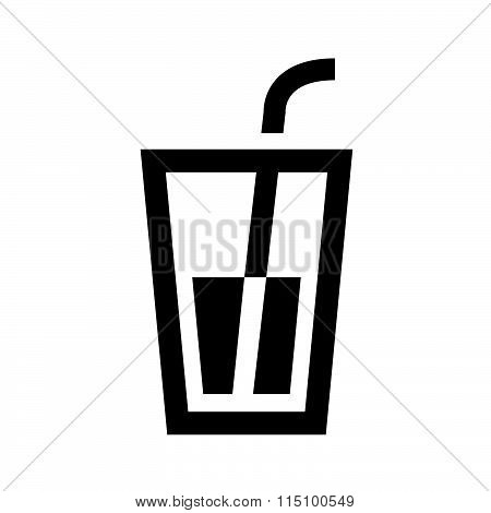 Drink icons vector design black color support eps10.