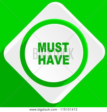 must have green flat icon