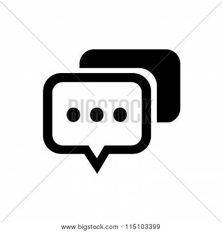 Speech bubbles vector icon vector design black color support eps10.