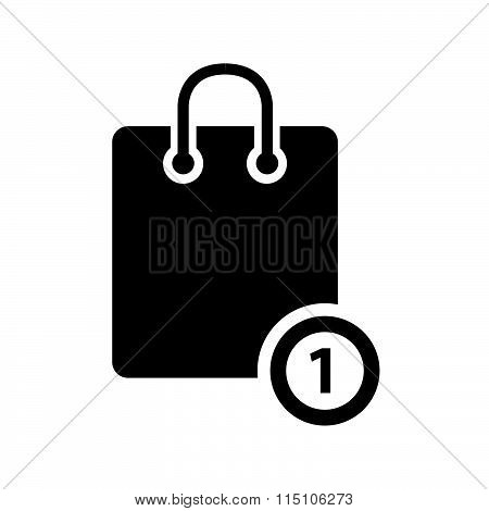 Shopping basic icon vector design black color support eps10.