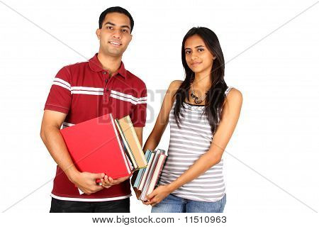 Two young Indian students.