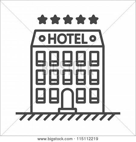 Hotel line vector icon