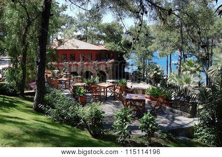 Terrace Of Restaurant In Marmaris.