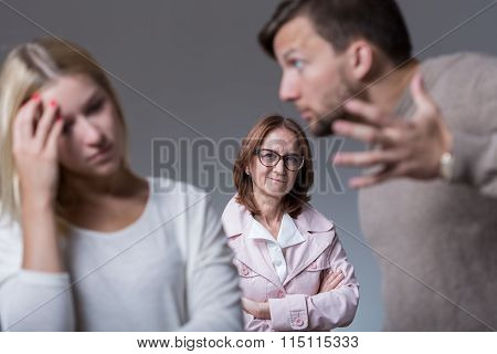 Marital Dispute And Mean Mother
