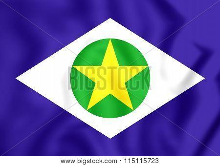 Flag Of Mato Grosso, Brazil.