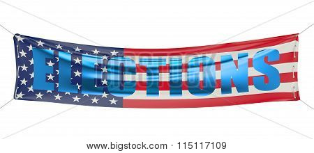 Elections In Usa Concept On The Banner