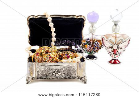 Perfumes and jewels