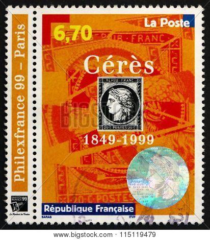 Postage Stamp France 1999 Ceres