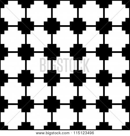 Blocky, Monochrome Pattern With Squares. Seamlessly Repeatable.