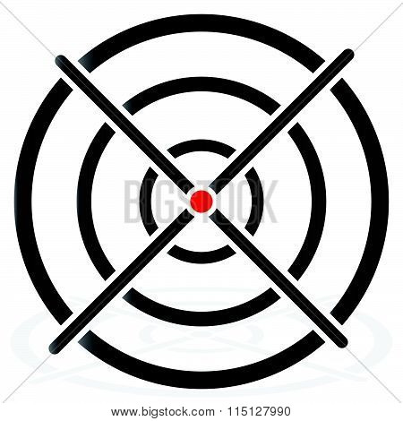 Cross Hair, Target Mark, Circular Reticle Vector Illustration.