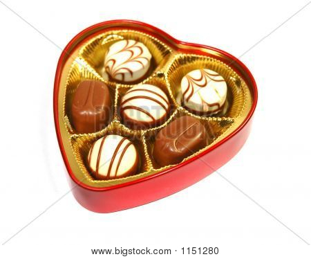 Chocolate In Heart Shape Box