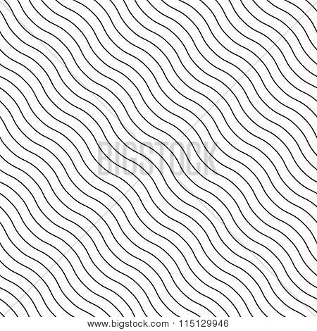 Abstract Seamless Background With Wavy, Waving Lines. Can Be Repeated.