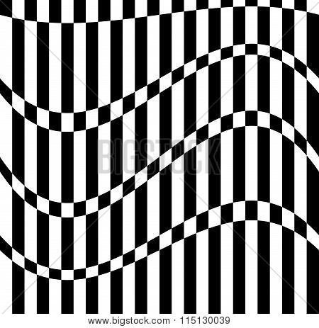 Abstract Pattern Alternating, Checkered Squares, Rectangles. Monochrome Vector Art.